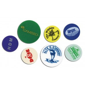 "1"" Plastic Ball Markers - Printed"